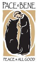 Gambar St. Fransiskus memberkati serigala Gubbio lambang perdamaian antarsesama makhluk ciptaan Tuhan