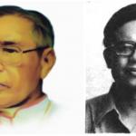Mgr. Ign Harsana, eks Uskup Bogor dan Bapak Jacob Oetama, pendiri Kompas bersama Bp. Ojong Peng Koen.