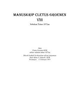 Manuskrip Cletus Groenen Buku ke-8