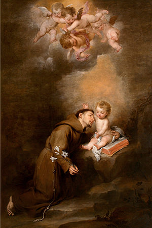 St. Antonius Padua dengan Bayi Yesus karya Bartolomé Esteban Murillo